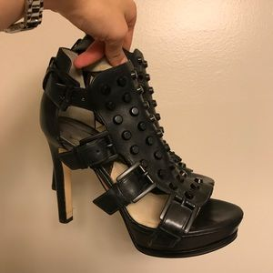 Michael Kors Black Studded Heels